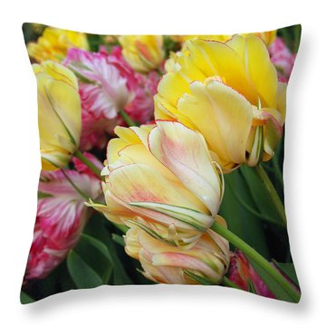 A Bouquet Of Tulips For You Throw Pillow by Eva Kaufman