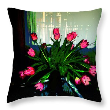 A Bouquet Of Tulips For You Throw Pillow