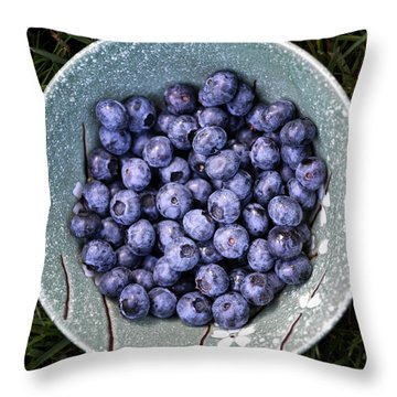 A Bowl Of Blue Throw Pillow