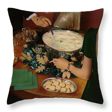 A Bowl Of Eggnog Throw Pillow