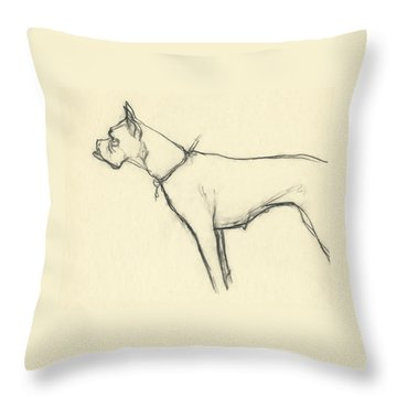 A Boxer Dog Throw Pillow