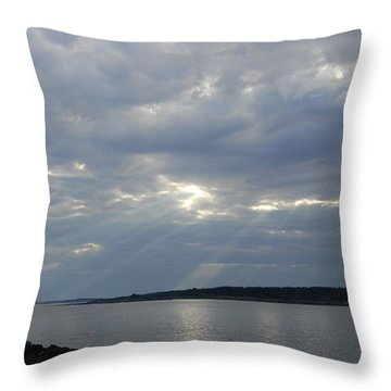A Break In The Clouds Throw Pillow by Jean Goodwin Brooks