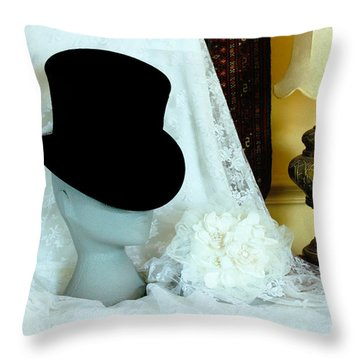 A Bridal Scene Throw Pillow by Terri Waters