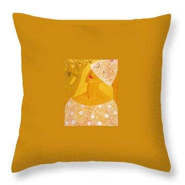 A Bride Throw Pillow