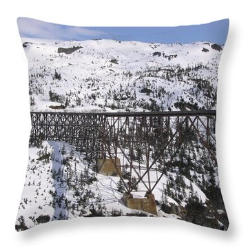 A Bridge In Alaska Throw Pillow by Brian Williamson