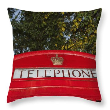 A British Phone Box Throw Pillow