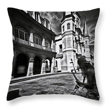 Throw Pillow featuring the photograph A Buck At A Time by Robert McCubbin