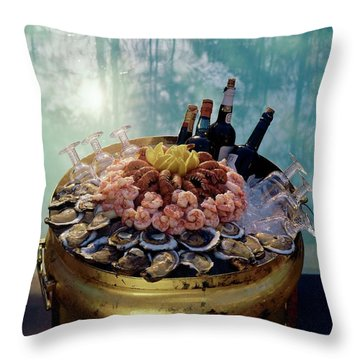 A Bucket Of Shrimp Throw Pillow