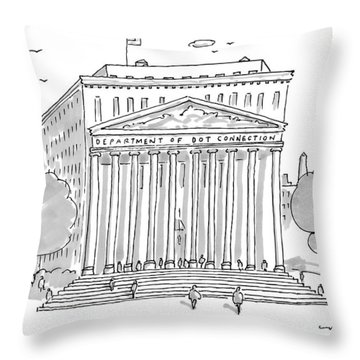 A Building In Washington Dc Is Shown Throw Pillow