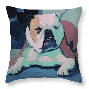 A Bulldog In Love Throw Pillow