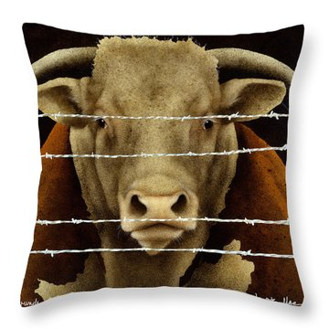 A Bunch Of Bull... Throw Pillow