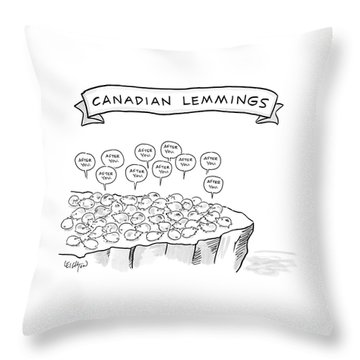 A Bunch Of Lemmings On A Cliff Saying After You Throw Pillow