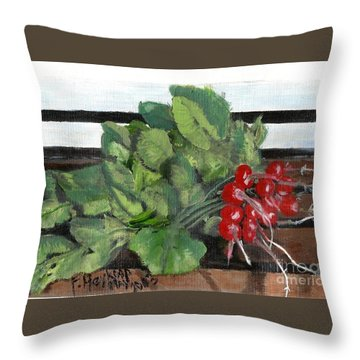 A Bunch Of Radishes  Throw Pillow