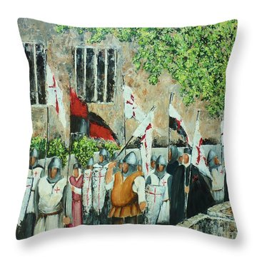 A Call To Arms Throw Pillow