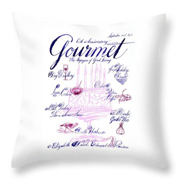 A Calligraphy Illustration Celebrating Sixty Throw Pillow
