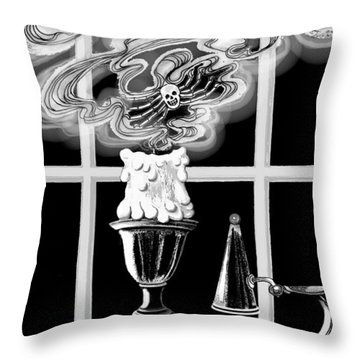 Throw Pillow featuring the digital art A Candle Snuffed by Carol Jacobs