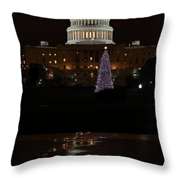 A Capitol Reflection Throw Pillow