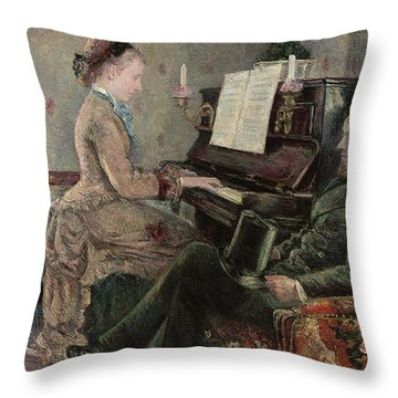 A Captive Audience Throw Pillow by Frederic Samuel Cordey