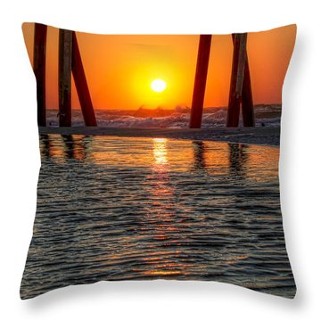 A Captive Sunrise Throw Pillow by Tim Stanley