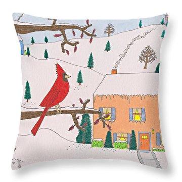 A Cardinal Christmas Throw Pillow