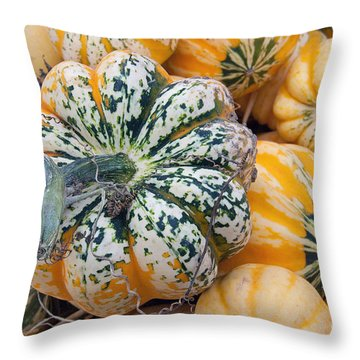 A Carnival Of Squash Throw Pillow