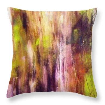 A Cascade Of Hues Throw Pillow by Jagjeet Kaur