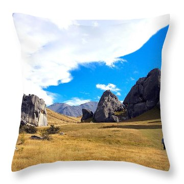 Throw Pillow featuring the photograph A Castle Hill Walk by Stuart Litoff