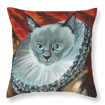 A Cat Of Peter Paul Rubens Style Throw Pillow