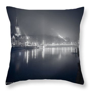 Throw Pillow featuring the photograph A Cathedral In The Mist II by Stwayne Keubrick