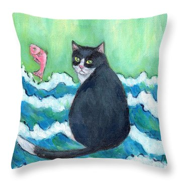 A Cat's Dream Interior Design Throw Pillow
