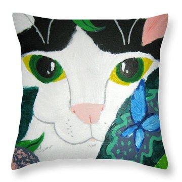 A Cat's Fancy Throw Pillow