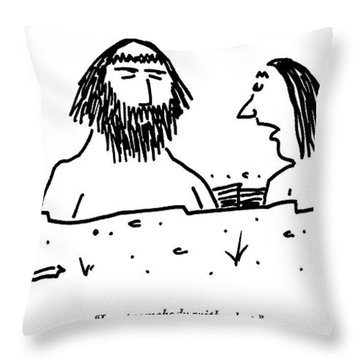 A Cavewoman Breaks Up With A Caveman Throw Pillow