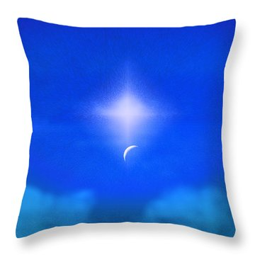 Throw Pillow featuring the photograph Beautiful New Day In The Heavens by Kellice Swaggerty