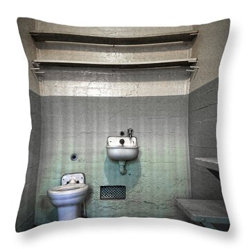 A Cell In Alcatraz Prison Throw Pillow by RicardMN Photography