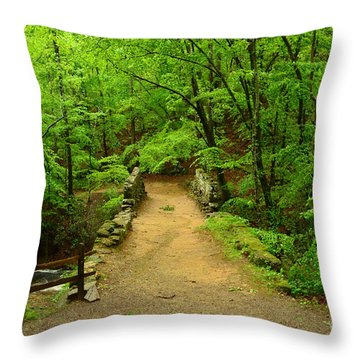 Century Old Stone Bridge Throw Pillow by Bob Sample