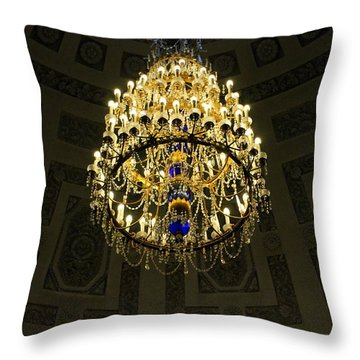 A Chandelier In The Hermitage Throw Pillow by Laurel Talabere