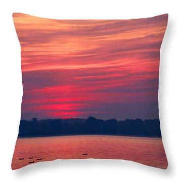 A Chesapeake Bay Sunrise Throw Pillow