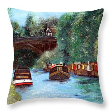 A Cheshire Canal Remembered Throw Pillow