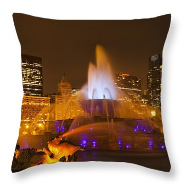 A Chicago Twilight Throw Pillow