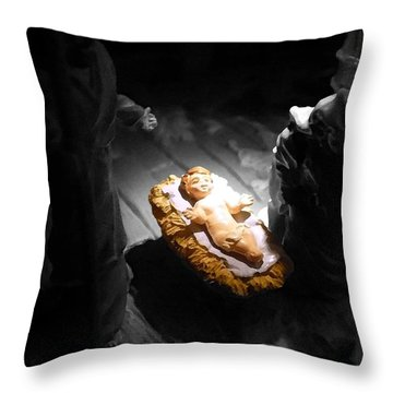 A Child Is Born Throw Pillow by Nicki Bennett