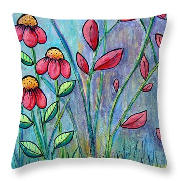 A Child's Garden Throw Pillow by Suzanne Theis