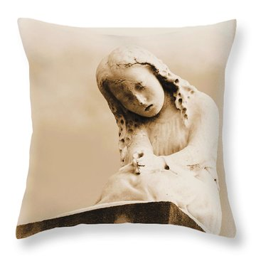 Throw Pillow featuring the photograph A Child's Prayer by Nadalyn Larsen