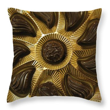 A Chocolate Sun Throw Pillow by Ausra Huntington nee Paulauskaite