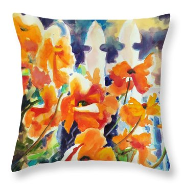A Choir Of Poppies Throw Pillow