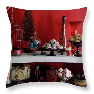 A Christmas Display Throw Pillow