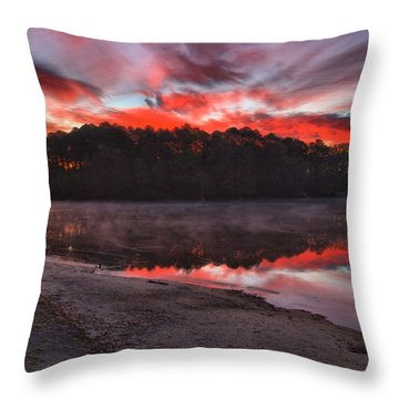 A Christmas Eve Sunrise Throw Pillow