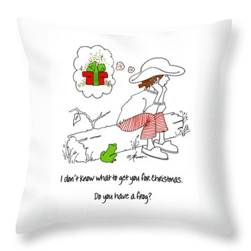 A Christmas Frog Throw Pillow
