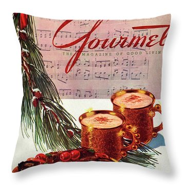 A Christmas Gourmet Cover Throw Pillow