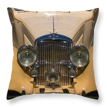 A Classic Rolls Royce Throw Pillow by Ron Sanford