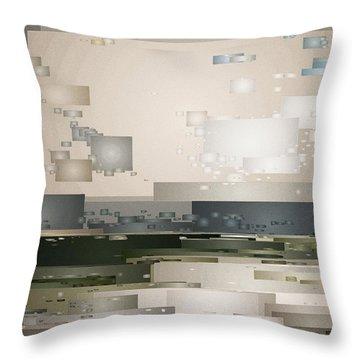 A Cloudy Day Throw Pillow by David Hansen